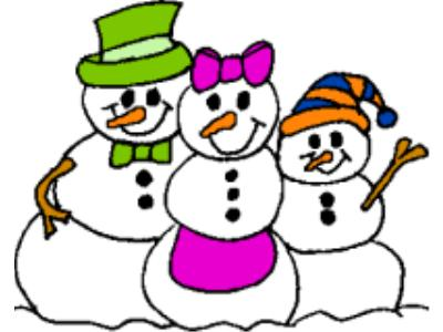 400x300 Snowman Clipart Family 4