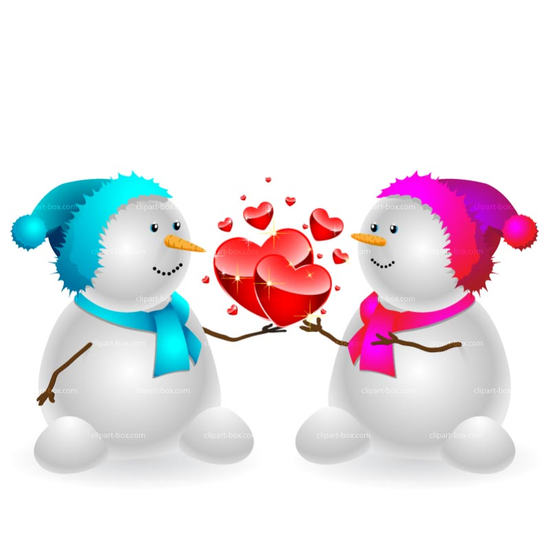 800x800 Clipart Snowman In Love Royalty Free Vector Design