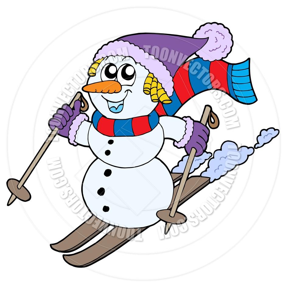 940x940 Skiing Clipart Snowman