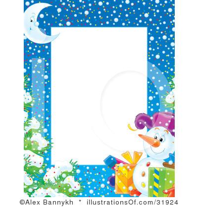400x420 Snowman Border Clip Art