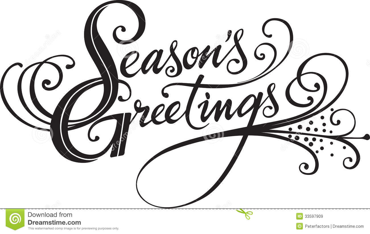 1300x824 Seasons Greetings Clipart