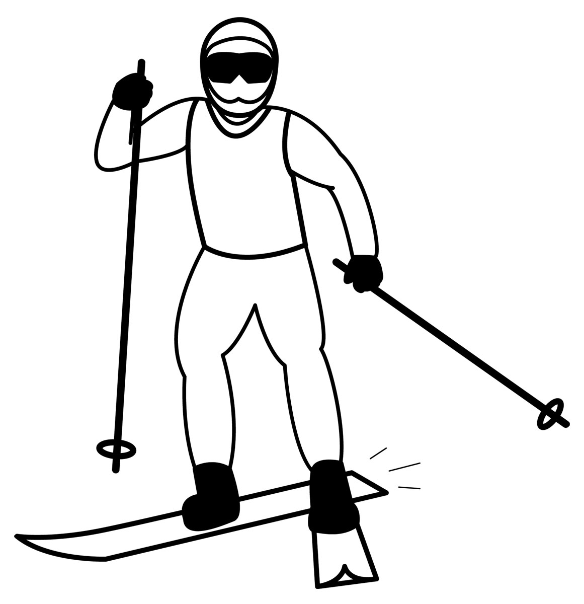 1161x1200 Ski Clipart Black And White