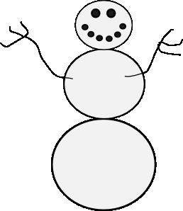 258x298 Snowman Clip Art