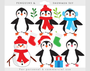 340x270 Penguins Clip Art Etsy