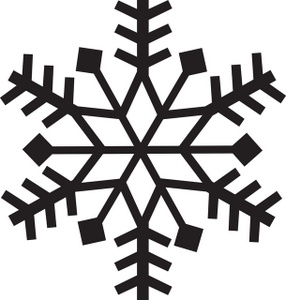 286x300 Simple Snowflake Clipart Black And White
