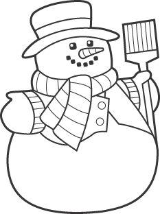 233x312 Snowman Snowflake Kids Crafts Snowman, Stenciling