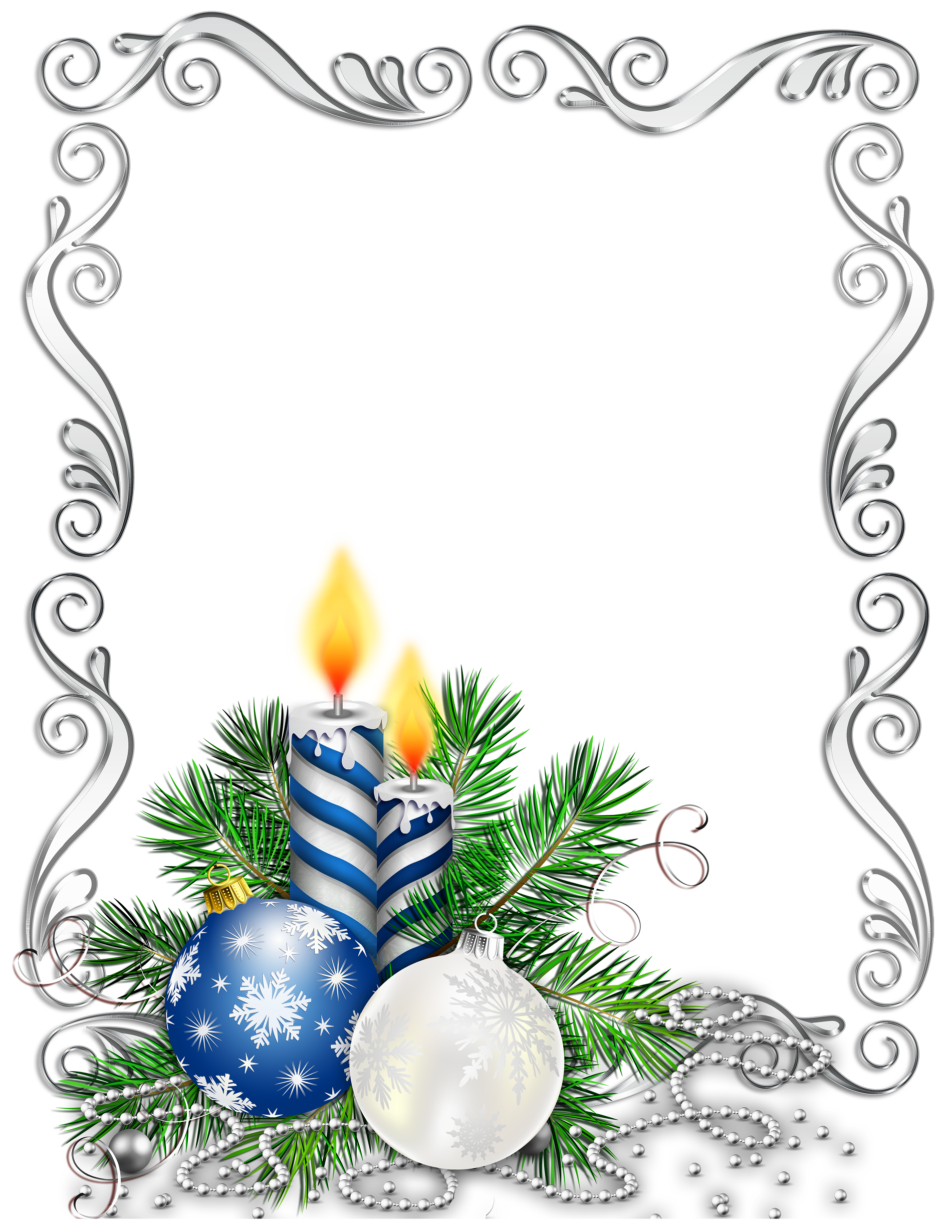 1900x2458 Candle Clipart Border