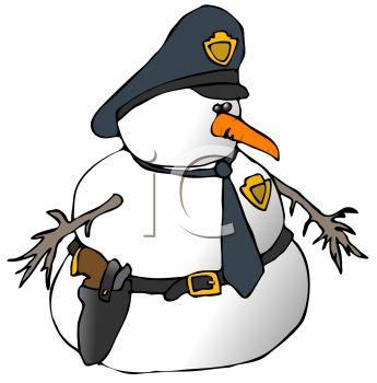 345x350 Cop Snowman