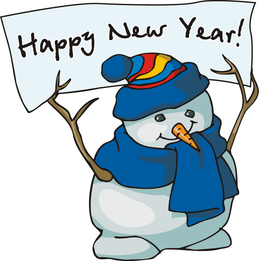 858x864 Happy New Year Clipart