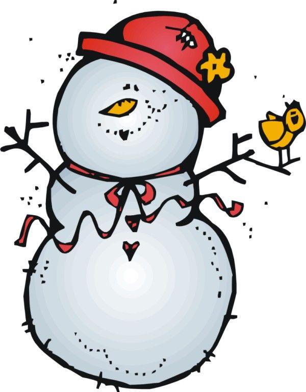 600x767 Snowman Clipart Melonheadz