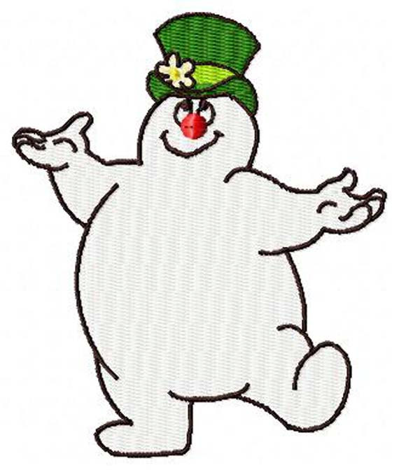 570x672 Frosty The Snowman Winter Christmas Machine Embroidery Design