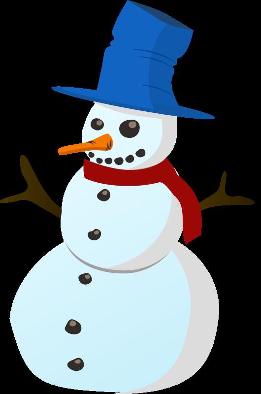 530x800 Snowman Clip Art 2