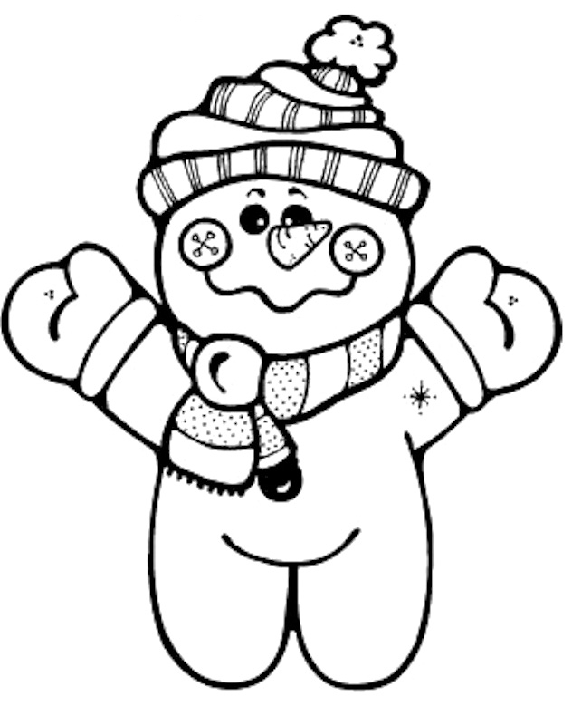 632x779 Cute Snowman Coloring Pages
