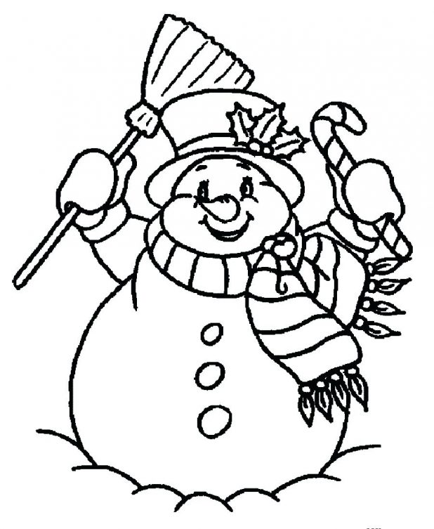 618x753 Detail New Snowman Coloring 66 Astounding To Color Pages Pdf