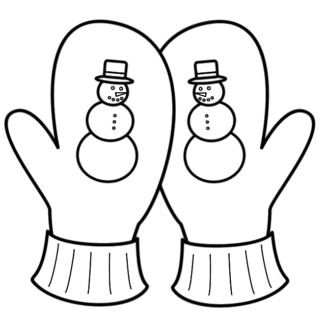 640x640 Mitten Coloring Pages