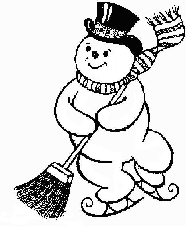 600x726 The Best Snowman Coloring Pages Ideas Printable