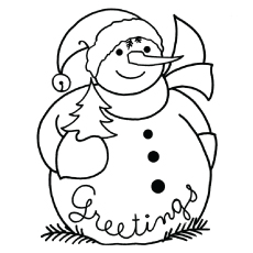 230x230 Top 20 Free Printable Snowman Coloring Pages Online