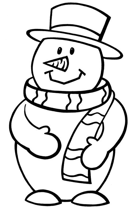 515x800 Colouring Pages Snowman Christmas Coloring Pages Free