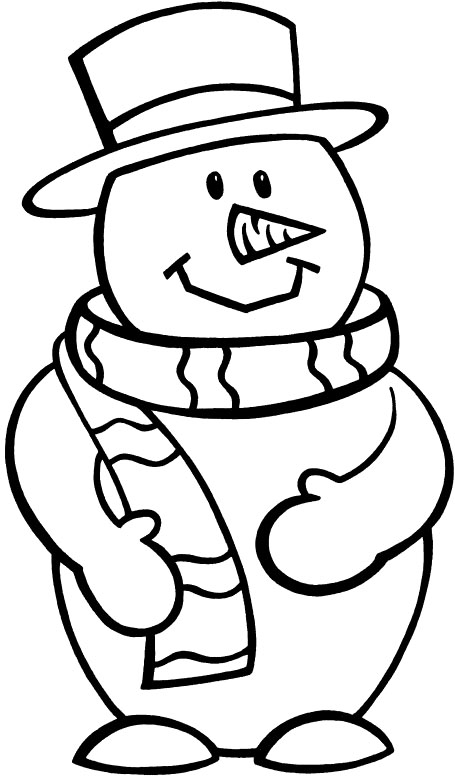 455x776 Snowman And Christmas Tree Coloring Pages For Kids To Print Free