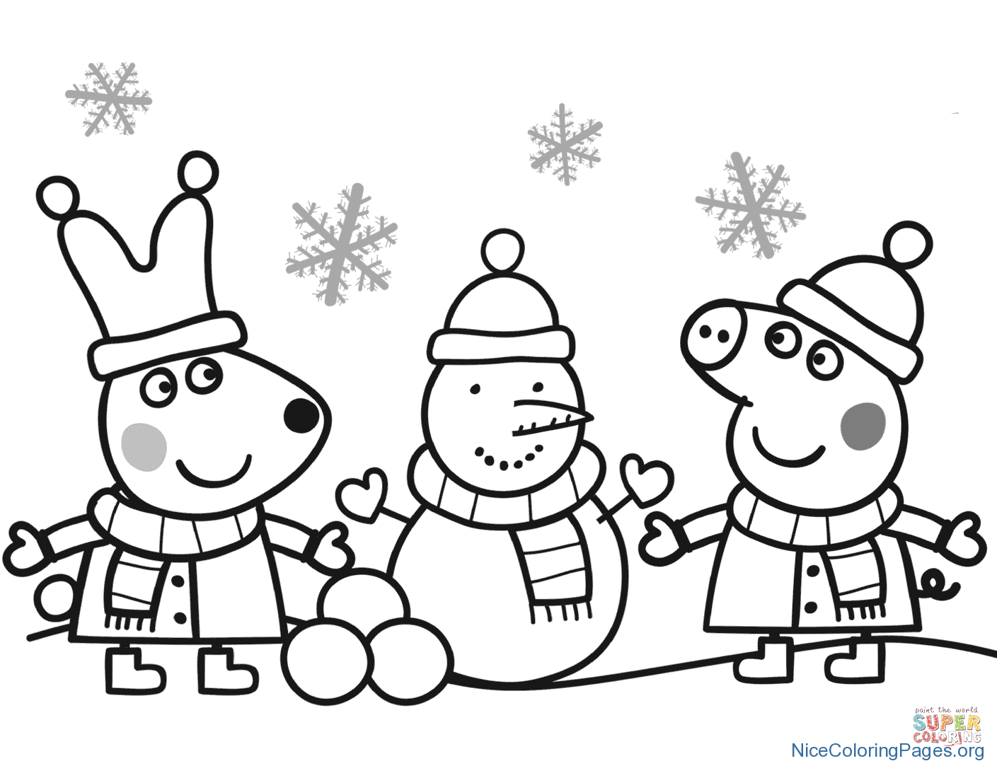 1409x1076 Christmas Snowman Coloring Pages 10 Nice Coloring Pages For Kids