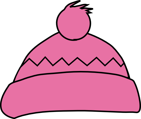 600x508 Pink Winter Hat Clip Art