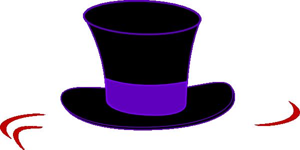 600x300 Black Top Hat Clip Art