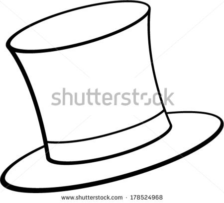 450x409 Hat Clipart Outline