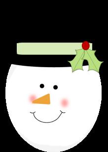 219x310 Christmas Snowman Clip Art