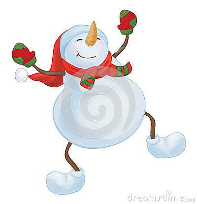 400x414 Dancing Snowman Clipart
