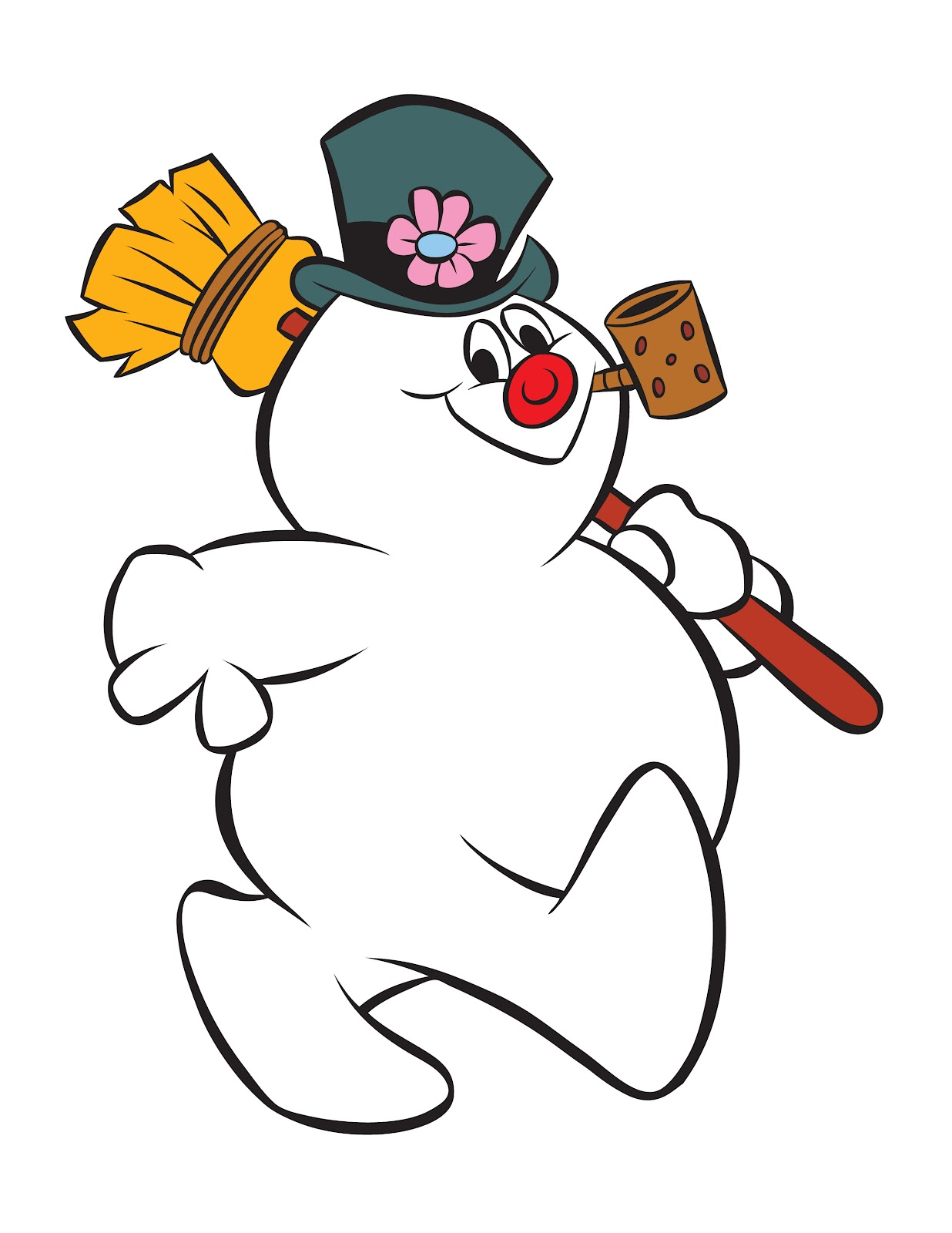 1236x1600 Frosty The Snowman Clipart Black And White