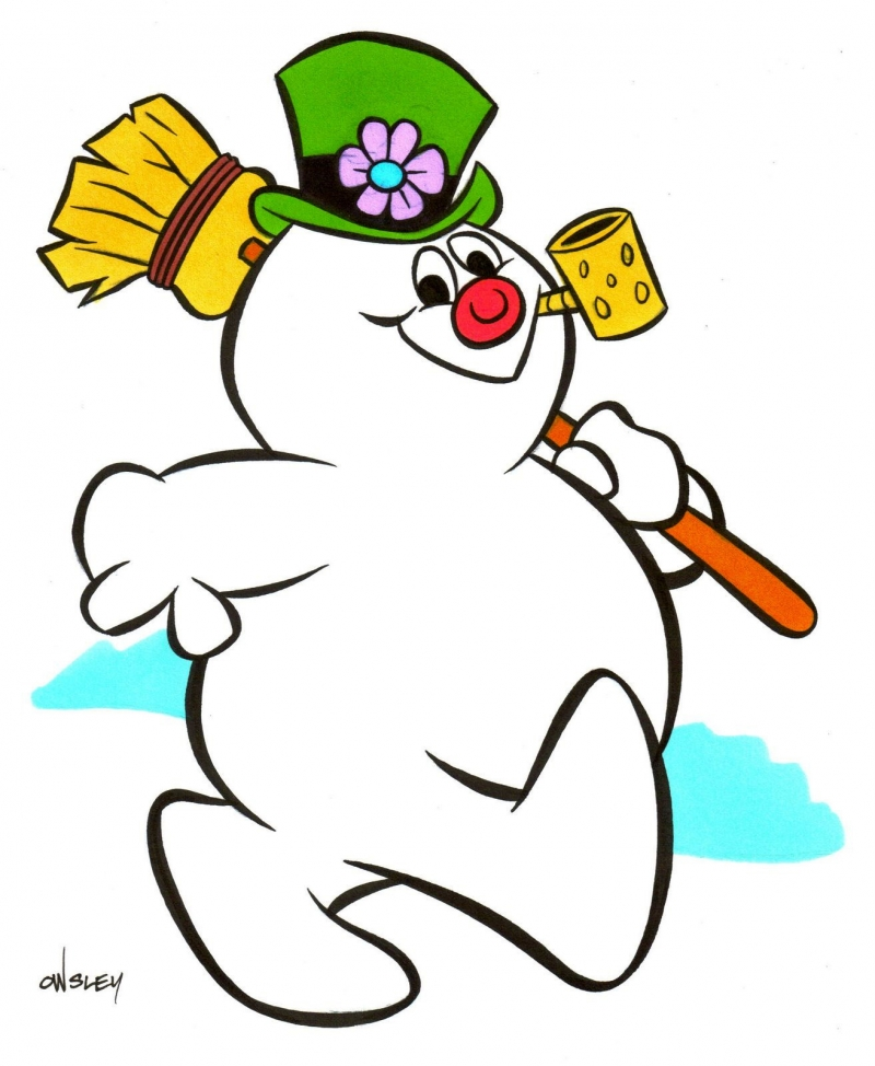 800x974 Mr And Mrs Frosty The Snowman Clipart