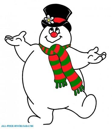 370x425 Snowman Free Clipart