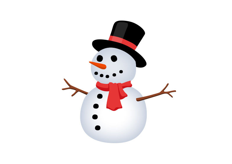 800x566 Snowman Free Vector Illustration