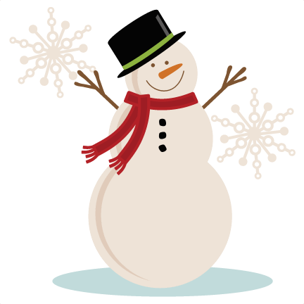 432x432 Winter Snowman Clipart