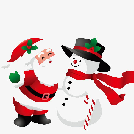 450x450 Santa Snowman, Santa Claus, Snowman, Scarf Png Image For Free Download