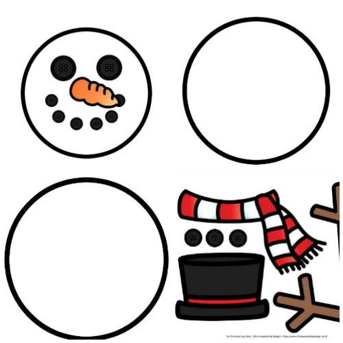 500x500 Build A Snowman Free Printables