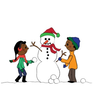 300x300 Clipart Of A Snowman