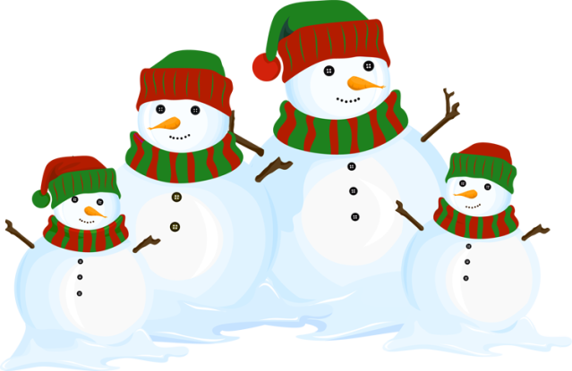 639x415 Holiday Clipart Snowman Family