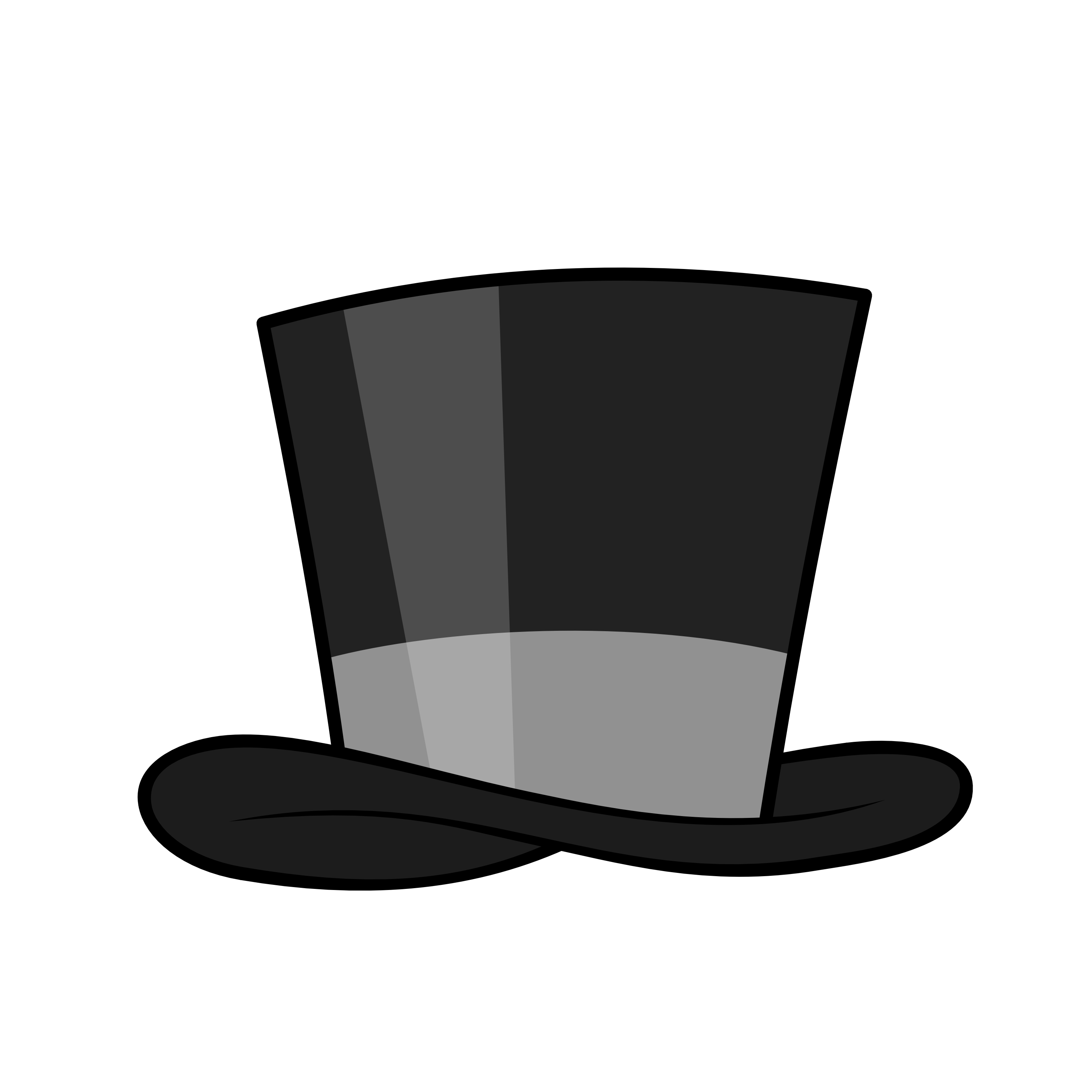 3000x3000 Top Hat Clipart