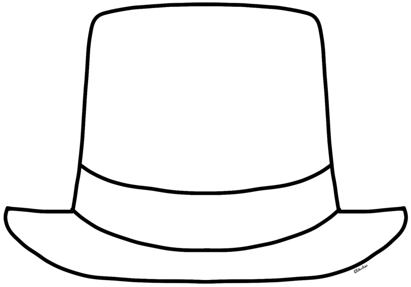 830x579 Top Hat Clipart Outline