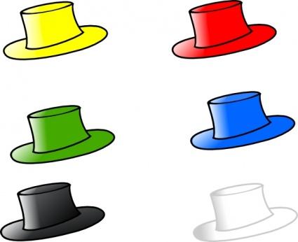 425x346 Top Hat Hats Clipart Image