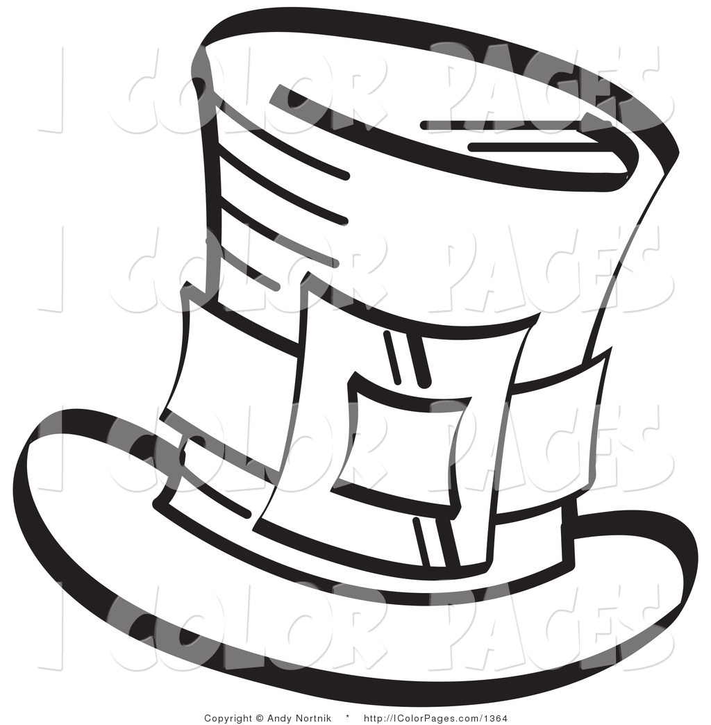 1024x1044 Vector Coloring Page Of A Coloring Page Of A Leprechaun's Tophat