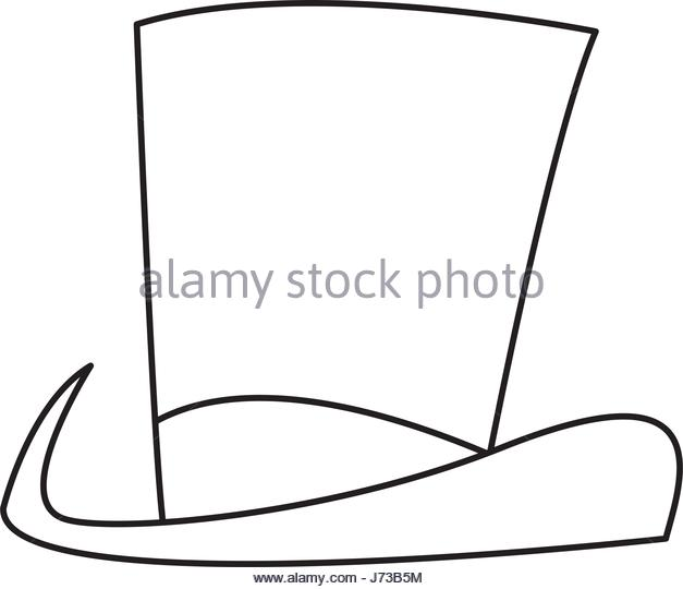 627x540 Black Top Hat Stock Vector Images