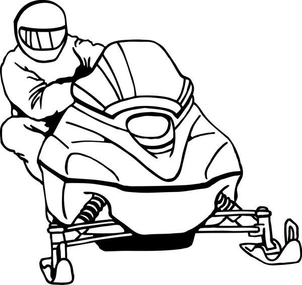 600x567 Free Snowmobile Clipart