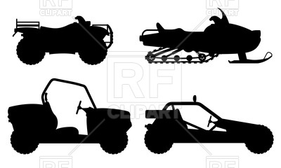 400x240 Outline Of Four Wheel All Terrain Vehicle