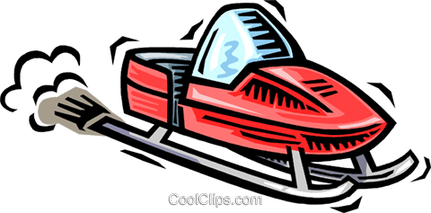 480x237 Snowmobile Royalty Free Vector Clip Art Illustration Vc064537