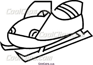 300x211 Snowmobile Vector Clip Art