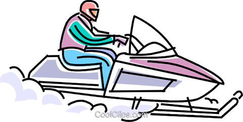 480x242 Snowmobile Racing Through The Snow Royalty Free Vector Clip Art