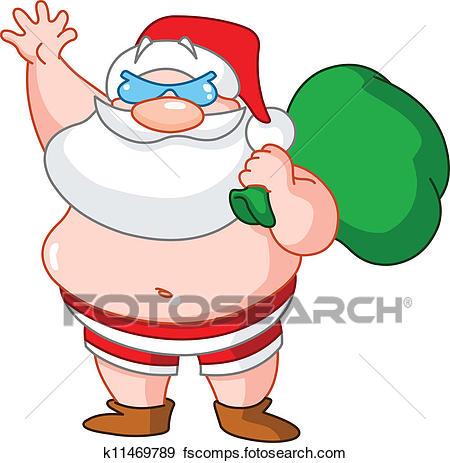 450x463 Clipart Of Santa Claus On A Snowmobile. Vector Editable. K7929640