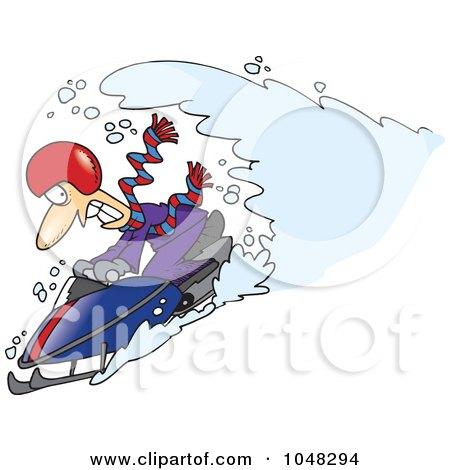450x470 Royalty Free (Rf) Clip Art Illustration Of A Cartoon Snow Chasing